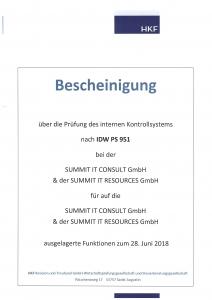 IDW PS 951 Bescheinigung