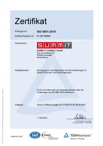 ISO 9001 Bescheinigung